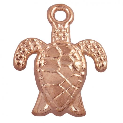 Charm Turtle (16 x 8 mm) Rose Gold (25 pcs)
