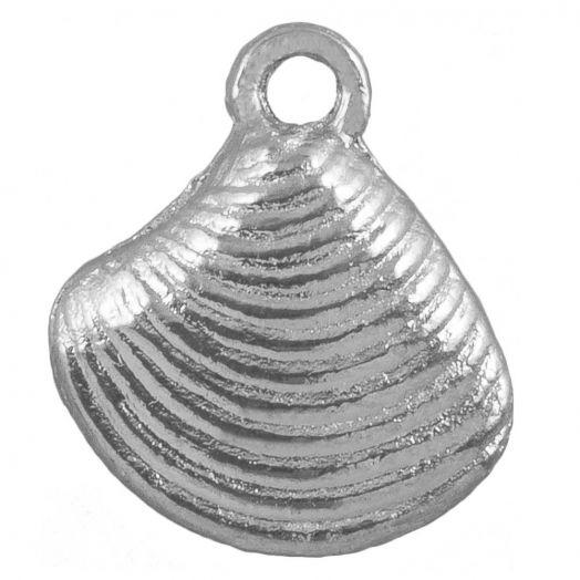 Charm Shell (14 x 13 mm) Antique Silver (25 pcs)