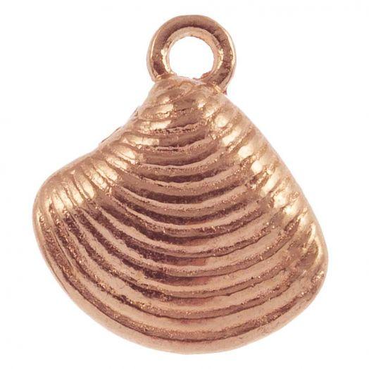 Charm Shell (14 x 13 mm) Rose Gold (25 pcs)