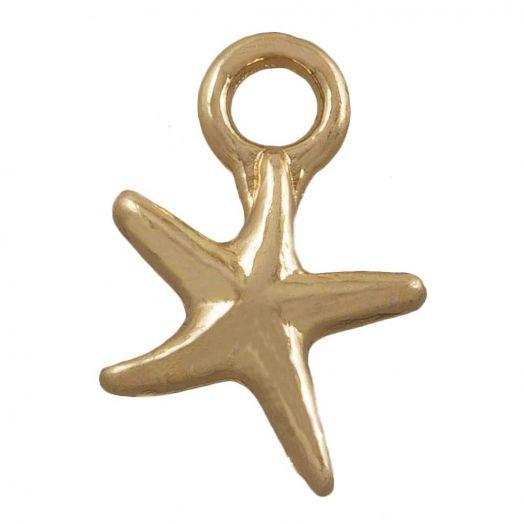 Charm Starfish (12 x 10 mm) Gold (25 pcs)