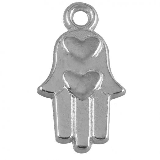 Charm Hamsa (15 x 9 mm) Antique Silver (25 pcs)
