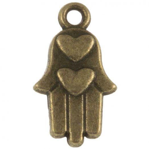 Charm Hamsa (15 x 9 mm) Bronze (25 pcs)