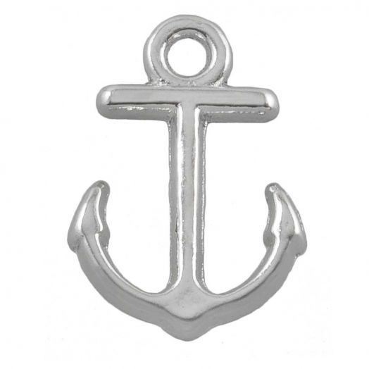 Charm Anchor (12 x 10 mm) Antique Silver (25 pcs)