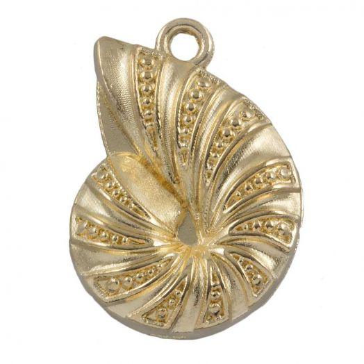 Charm Shell (23 x 17 mm) Gold (25 pcs)