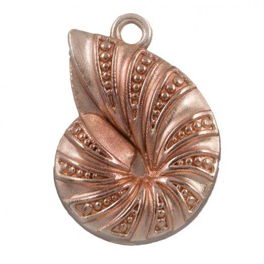 Charm Shell (23 x 17 mm) Rose Gold (25 pcs)