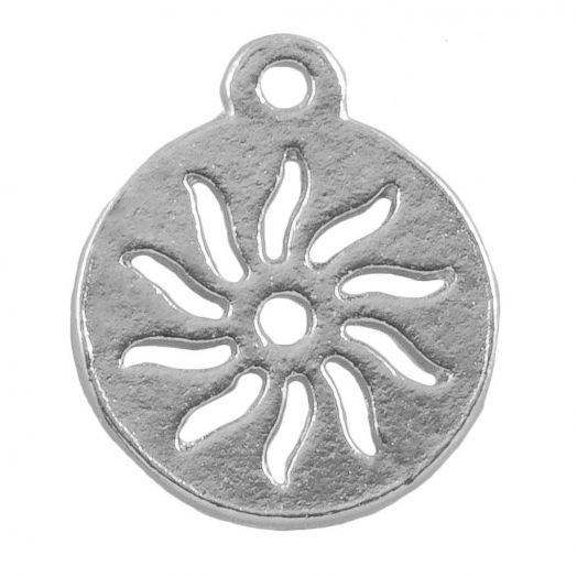 Charm Sun (12 mm) Antique Silver (25 pcs)