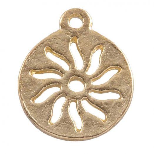 Charm Sun (12 mm) Gold (25 pcs)
