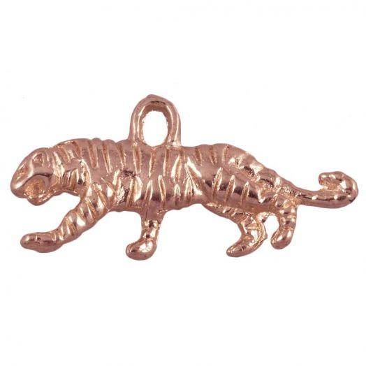 Charm Tiger (20 x 10 mm) Rose Gold (10 pcs)