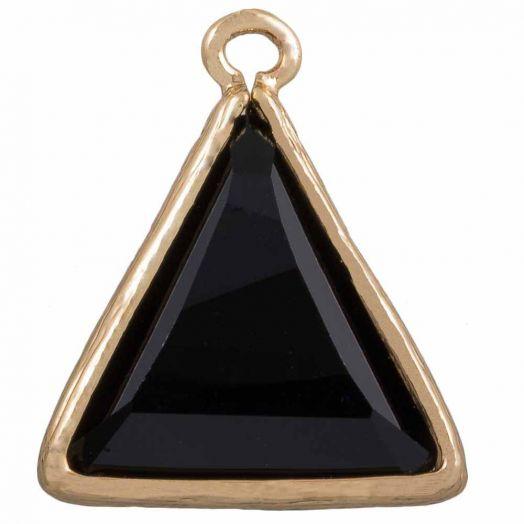 Triangle Charm (21 x 18 mm) Black (2 pcs)