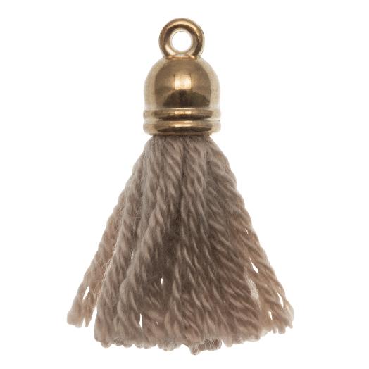 Tassels (20 mm) Cedar / Gold (5 pcs)
