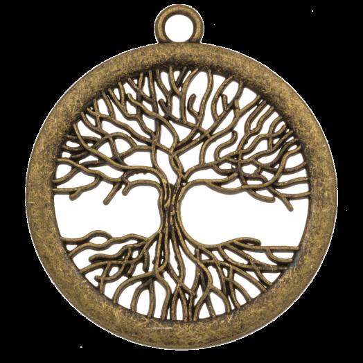Pendant Tree of Life (47 x 41 mm) Bronze (2 pcs)