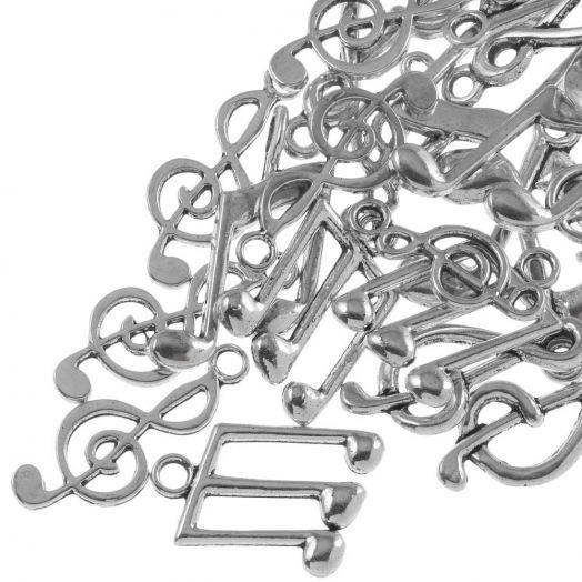 Advantage Package - Music Notes (various sizes) Antique Silver (30 pcs)