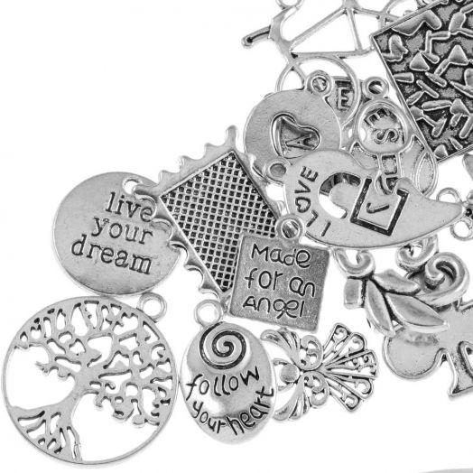 Advantage Package - Charm Dream (various sizes) Antique Silver (50 pcs)