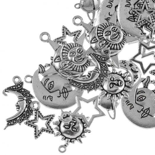 Advantage Package - Charm Universe (various sizes) Antique Silver (35 pcs)