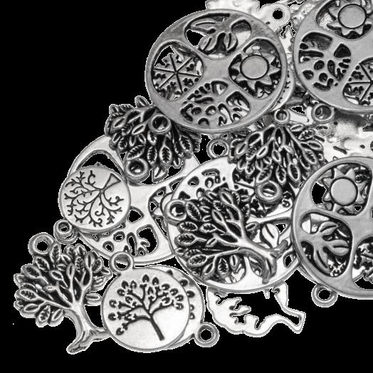 Advantage Package - Charm Tree (various sizes) Antique Silver (30 pcs)
