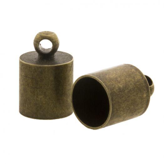 Endcaps (hole size 8.5 mm) Bronze (10 pcs)