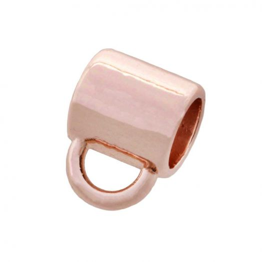 Connectors 1 Eye (hole size 4 mm) Rose Gold (10 pcs)