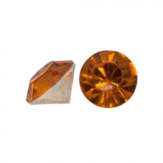 Rhinestone Cabochons SS29 (6 mm) Clear Orange (25 pcs)