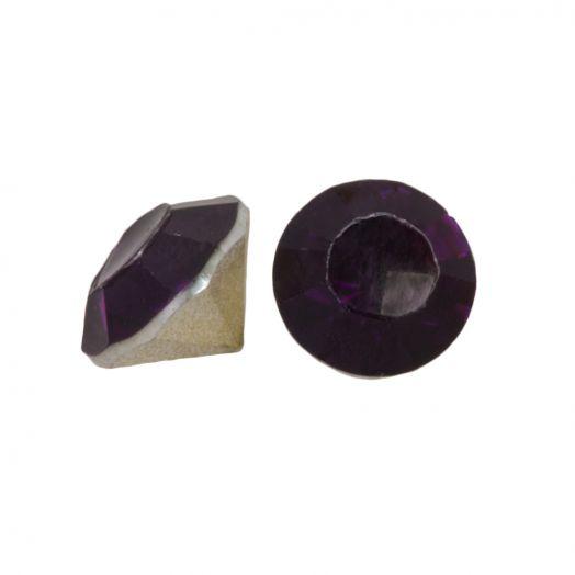 Rhinestone Cabochons SS29 (6 mm) Deep Purple (25 pcs)