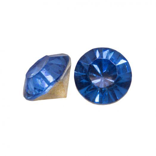 Rhinestone Cabochons SS29 (6 mm) Clear Blue (25 pcs)