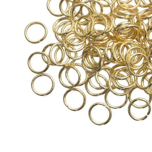 Jump Ring (6 mm) Gold (100 pcs) thick 0.8 mm