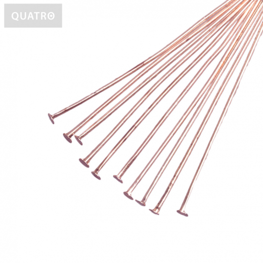 Head Pins (45 mm) Rose Gold (50 pcs)