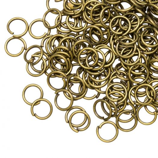 Jump ring (6 mm) Bronze (100 pcs) thick 0.8 mm