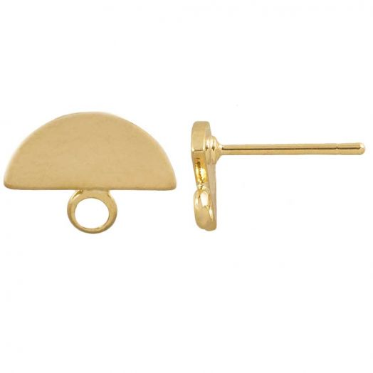 Ear Studs 10 x 8 mm (Gold) 6 pcs
