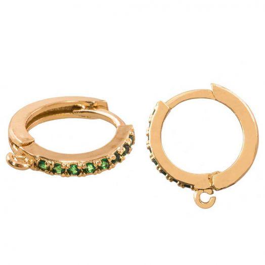 Hoop Earrings (15 x 14 mm) Gold (4 pcs)