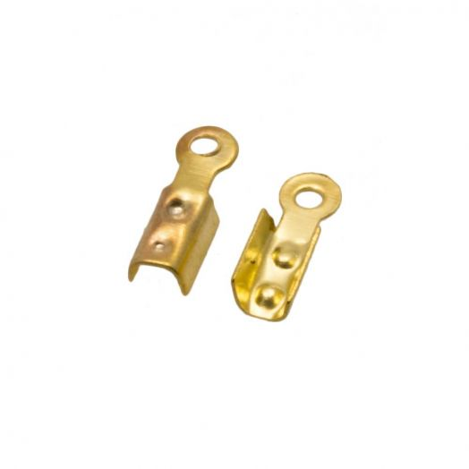 Cord Ends (8 x 2.5 x 2 mm Gat: 1.5 mm) Gold (500 pcs)