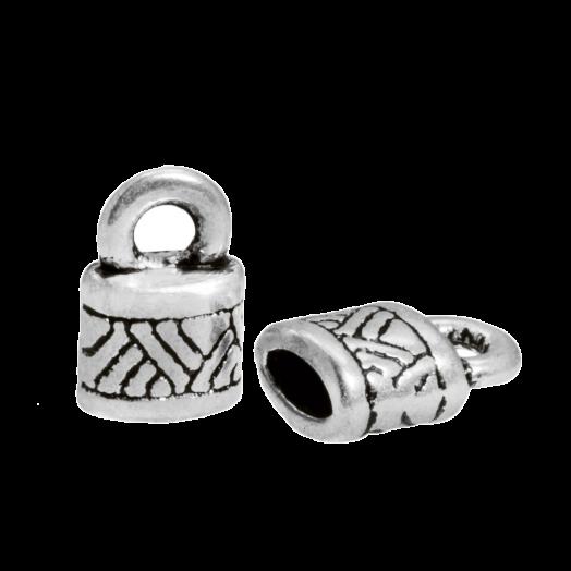 Endcaps (hole size 4 x 2 mm) Antique Silver (10 pcs)
