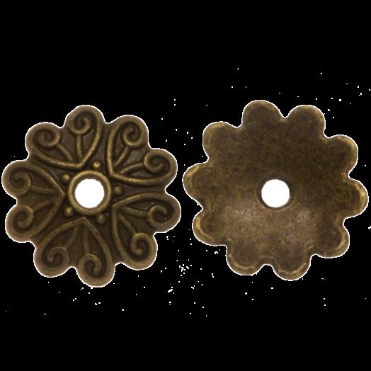 Beadcap (11 x 2 mm) Bronze (25 pcs)