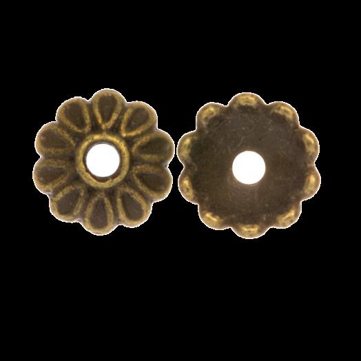 Beadcap (8 x 2.5 mm) Bronze (25 pcs)