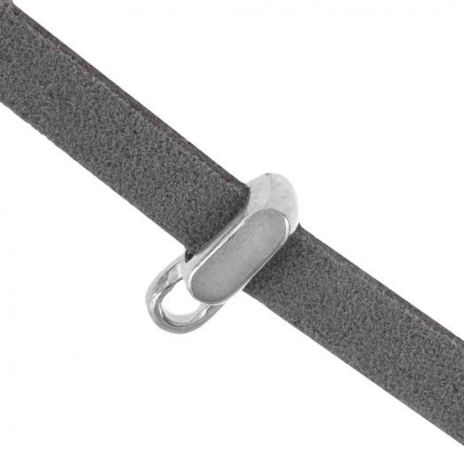 Rectangle Connector (hole size 5 x 2 mm) Antique Silver (10 pcs)