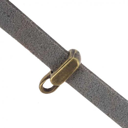 Rectangle Connector (hole size 5 x 2 mm) Bronze (10 pcs)