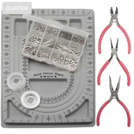 Starter Kits Jewelry Making (Quatro) Antique Silver
