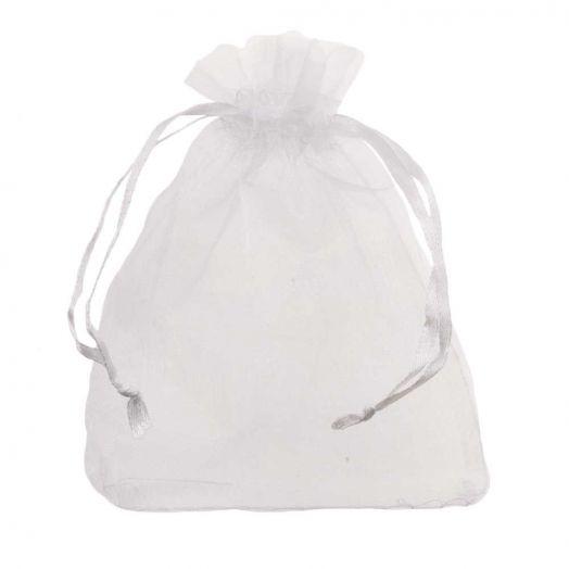 Organza Bags (8 x 12 cm) White (25 pcs)