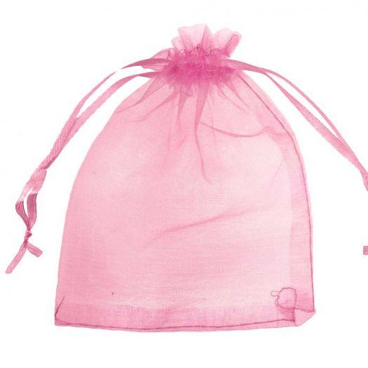 Organza Bags (8 x 12 cm) Pink Red (25 pcs)