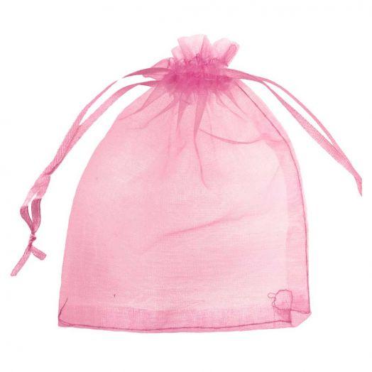 Organza Bags (7 x 9 cm) Pink Red (25 pcs)