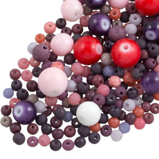 Advantage Package - Glass Beads (Various Sizes) Mix Color (500 grams)