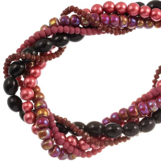 Advantage Package - Glass Beads (Various Sizes) Red (5 Strands)
