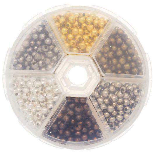 Advantage Package - Metal Beads (4 mm) Mix Color (940 pcs)