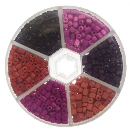 Advantage Package - Cubs Glass Beads (4 x 3 mm) 'Pink Rose'