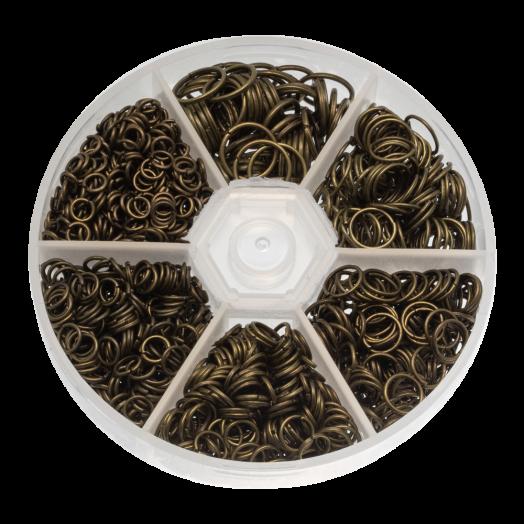 Advantage Package - Jump Ring (6 different sizes) Bronze (1600 pcs)