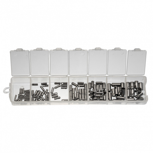 Advantage Package - Stainless Steel Endcaps (1 to 4 mm) Antique Silver (110 pcs)