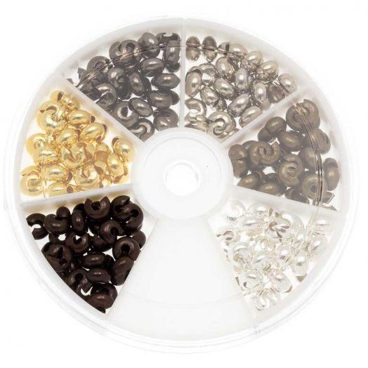 Advantage Package - Crimp Bead Covers (5 mm) Mix Color (200 pcs)