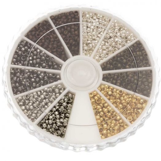Advantage Package - Crimp Beads (Innersize 1.2 mm) Mix Color (3000 pcs)