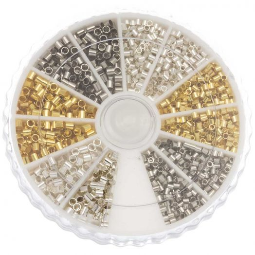 Advantage Package - Crimp Beads (Innersize 1 - 1.5 mm) Mix Color