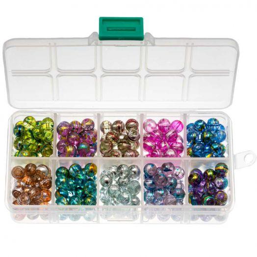 Advantage Package - Glass Beads (8 mm) Mix color (300 pcs)