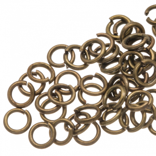 Jump Ring (4 mm) Bronze (100 pcs) Thick 0.8 mm